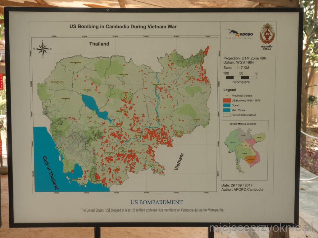 Bomby zrzucone przez USA w czasie wojny w Wietnamie
