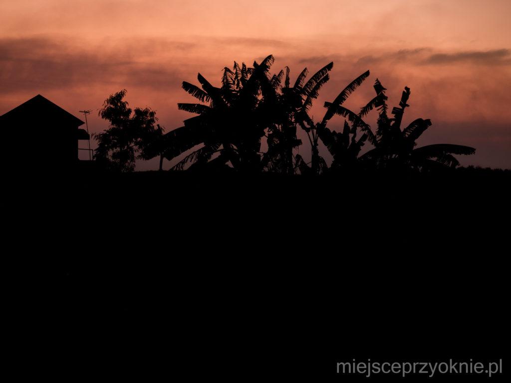 Zachód słońca, widok z naszego tarasu