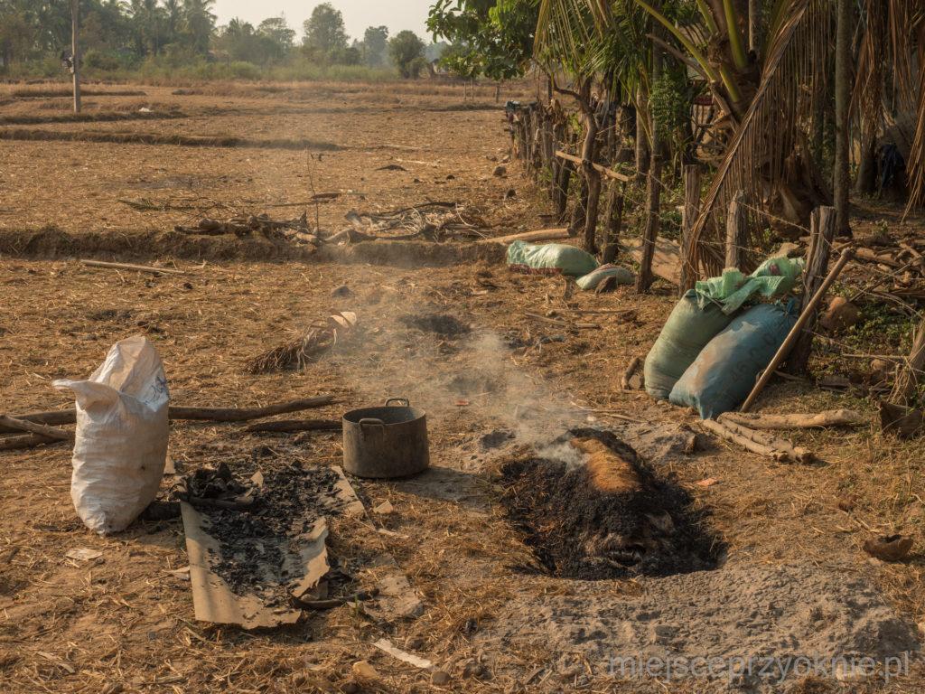 Wypalanie węgla drzewnego