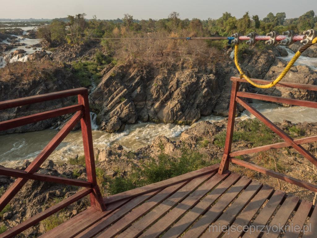 Widok z platformy parku linowego